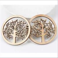 1 Holz-Ornament Anhänger Baum