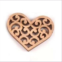 1 Holz-Ornament Anhänger Herz