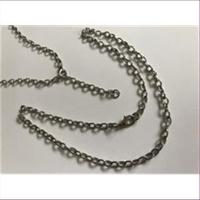 1 Halskette fertig montiert 50cm silberfarbig