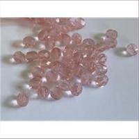 20 Glasschliffperlen Facettenperlen 6mm rosa