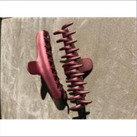 1 Haarklammer 11cm pink lila