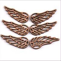 1 Holz-Ornament Anhänger Flügel