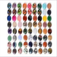 1 Cabochon Halbedelsteine 30x40mm oval