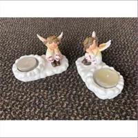 1 Kerzenhalter Teelichthalter Engel aus Poly