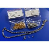 1 Halskette Gliederkette Bastelset 45cm silberfarbig