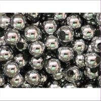 10 Acrylperlen Großlochperlen 8mm silber
