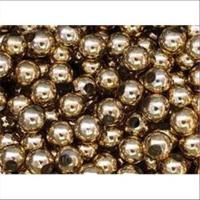 10 Acrylperlen Großlochperlen 8mm gold