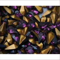 10 Bastelsteine Tropfen 13x8mm amethyst lila