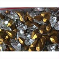 10 Bastelsteine Tropfen 10x6mm cristall