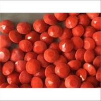10 Bastelsteine rund 10mm koralle-orange