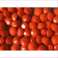 10 Bastelsteine rund 10mm kräftiges orange