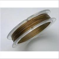 5m Edelstahldraht 0,3mm mattgold