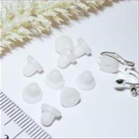 50 Ohrclipsstöpsel Silikon weiß