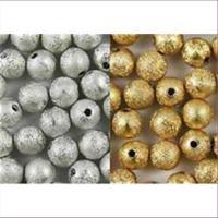 20 Acrylperlen 4mm mattiert diamantiert