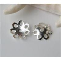 1 Perlkappel Blumenform 925 echt Silber