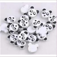 5 Holzperlen Pandabär Kinderperlen