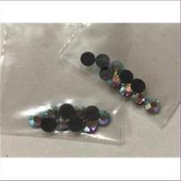 10 Straßsteine flach zum Bügeln 4mm