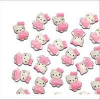 10 Hello Kitty Cabochons 20x15mm