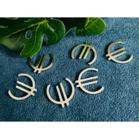 """10 Pressungen Euro """"€"""" Zeichen silberfarbig"""