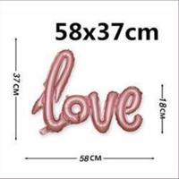 1 Ballon Love zum Aufblasen 58x37cm
