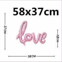 1 Ballon Love zum Aufblasen 106x63cm