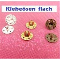 100 Klebeösen flach 8mm mit 4 Löchern