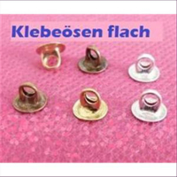 100 Klebeösen flach 6mm