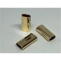 2 Rohrstücke oval flach 20x9,8x4,8mm
