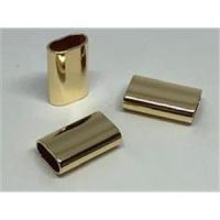 2 Rohrstücke oval flach 20x12,4x5,9mm