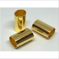 2 Rohrstücke oval flach 25x16,5x13mm