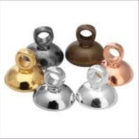 10 Ösenkappen Perlenkappen gewölbt 8mm