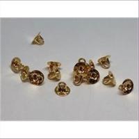 100 Klebeösen flach 6mm vergoldet