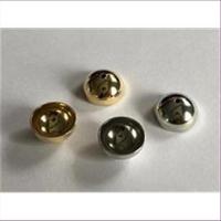 10 runde gewölbte Kappen 10mm mit Loch