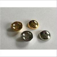 10 runde gewölbte Kappen 12mm mit Loch