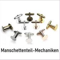 10 Manschettenknopfmechaniken mit Platte 12mm