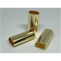 2 Rohrstücke oval flach 25x11,4x8mm