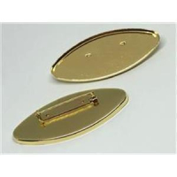 1 Brosche Fimobrosche oval