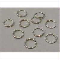10 runde Biegeringe Spaltringe 935 echt Silber 11x0,9mm