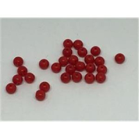 10gr. Glasperlen 3mm rot