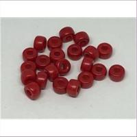 10gr. Glasperlen Großlochperlen 6mm rot