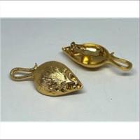1 Broschennadel Maus goldfarbig
