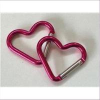 1 Herz Carabiner Schlüsselanhänger ROT