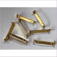 20 Leistel Broschennadeln 30mm goldfarbig