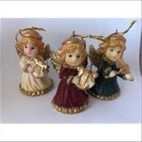 3 Engel Anhänger Glöckchen