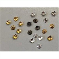 100 Perlkappen gewölbte Platten mit Loch 3,8mm