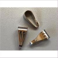 10 Collierschlaufen hellplatin silberfarbig