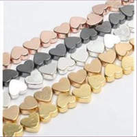 10 Metallperlen Herzen 5x6mm