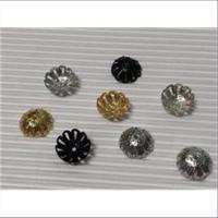 50 Perlkappel gewölbt 12,9mm
