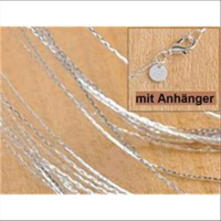1 Halskette Fantasiekette 45cm Silber