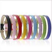 1 Armband 8mm für Schiebeperlen Schlangenlederoptik